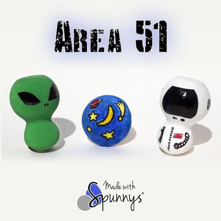 Outer space crafts alien astronaut dolls Spunnys
