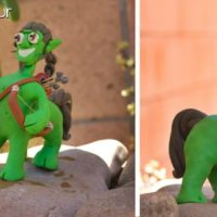 How to make claymation figures spun cotton filler
