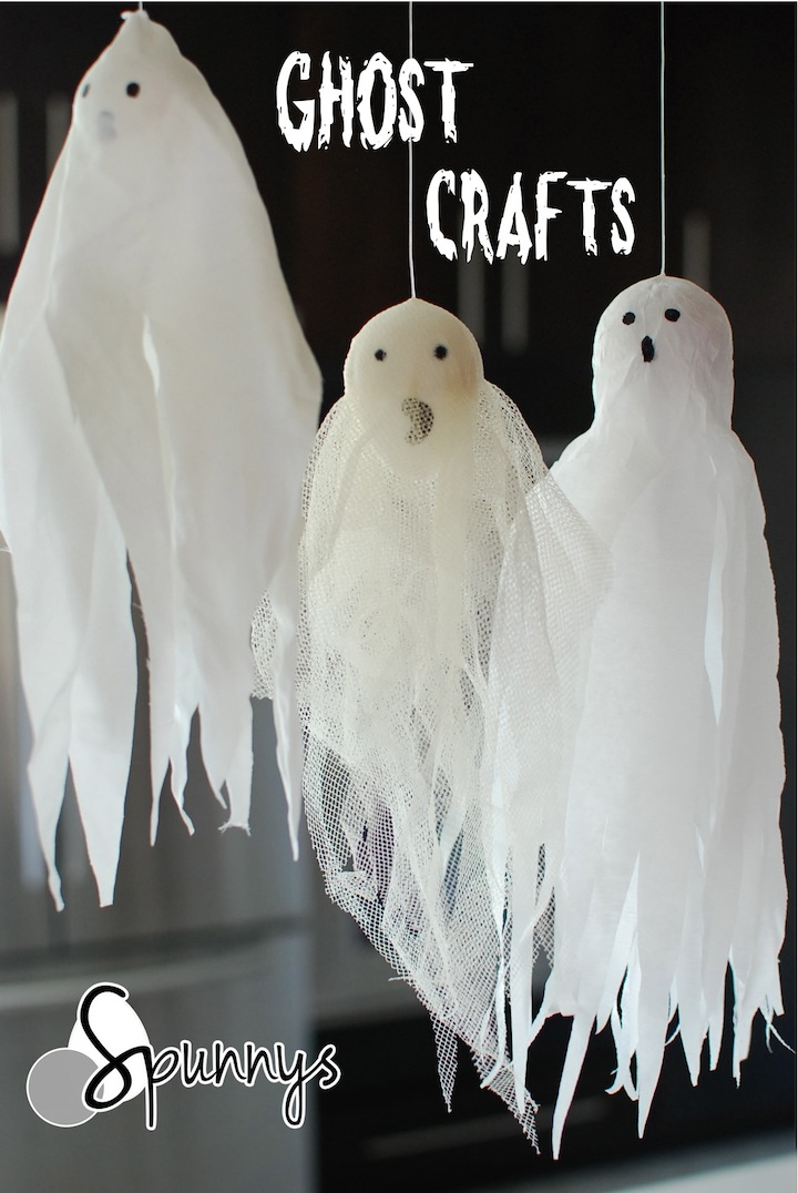 Halloween ghost ornaments DIY