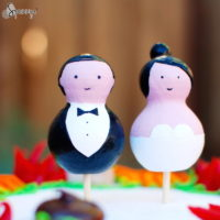 wedding cake toppers peg dolls people painting ideas