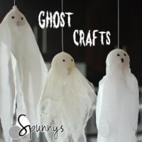 Spun cotton eggs ghost