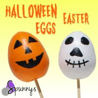 Spun cotton eggs halloween