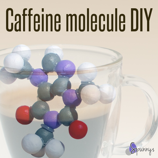 easy science craft idea molecule caffeine