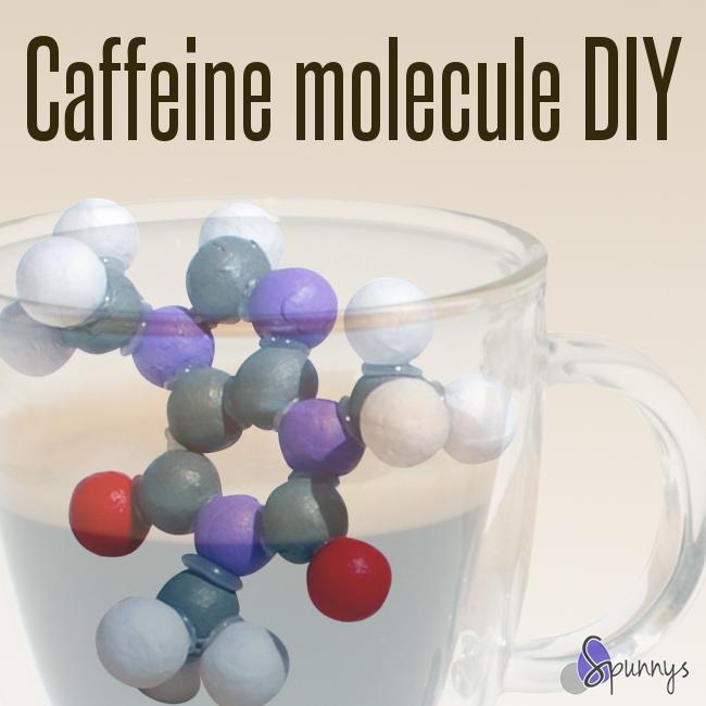 easy science craft idea molecule caffeine