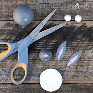 Easter bunny crafts scissor cutouts