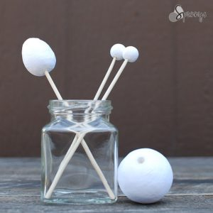 Spun cotton balls bamboo skewers