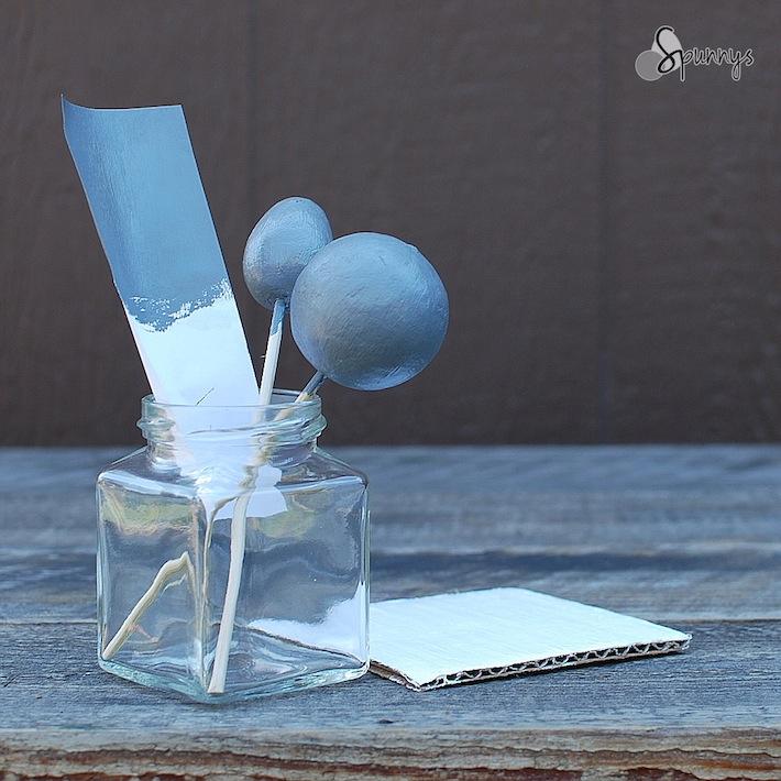 Spun cotton balls painting