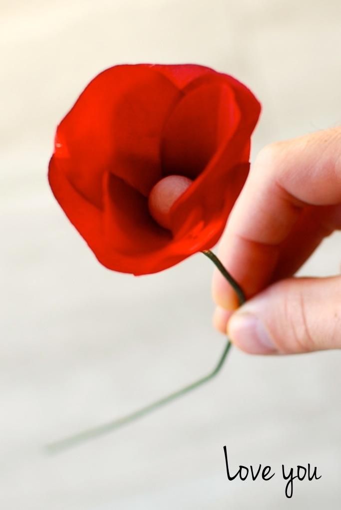 Fabric flower DIY craft project