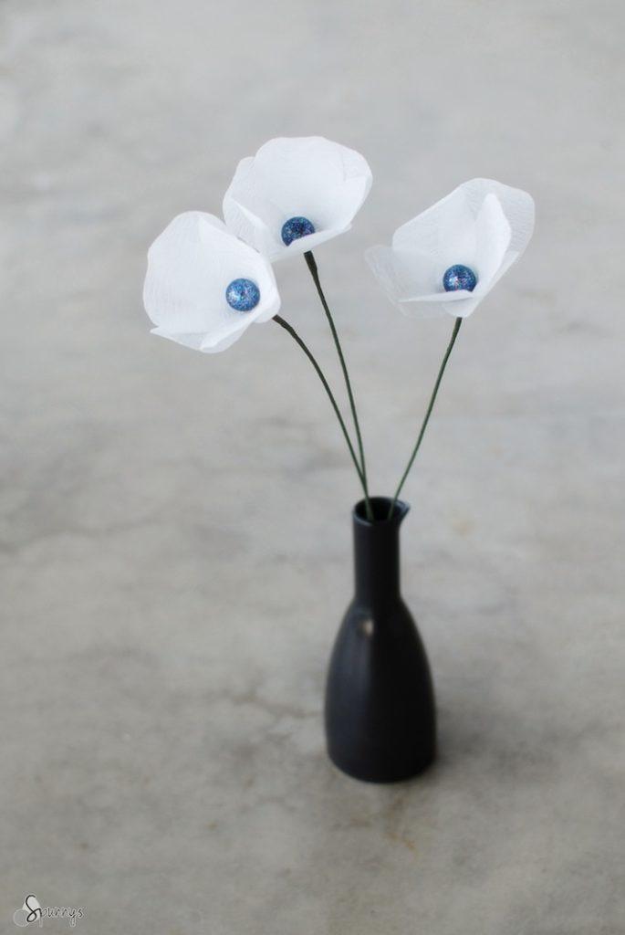 crepe paper flowers DIY