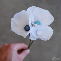 paper flower stamen DIY craft tutorial
