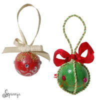 homemade painted christmas ornaments