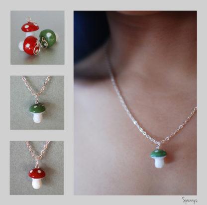 mushroom necklace pendant tutorial