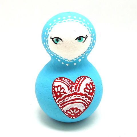 arctic craft painted peg doll