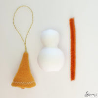 Christmas homemade snowman ornaments DIY step 5