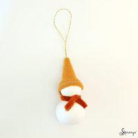 Christmas homemade snowman ornaments DIY step 6