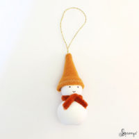 Christmas homemade snowman ornaments DIY step 7