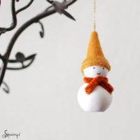 Christmas homemade snowman ornaments DIY tutorial