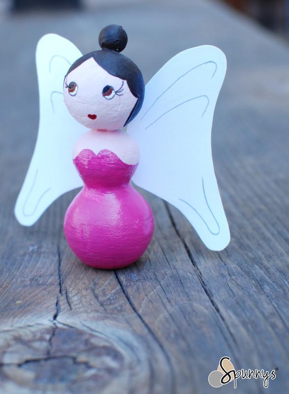 spun cotton angel fairy figurine DIY Tutorial