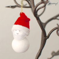 DIY crafts santa claus christmas ornament felt pipe cleaners