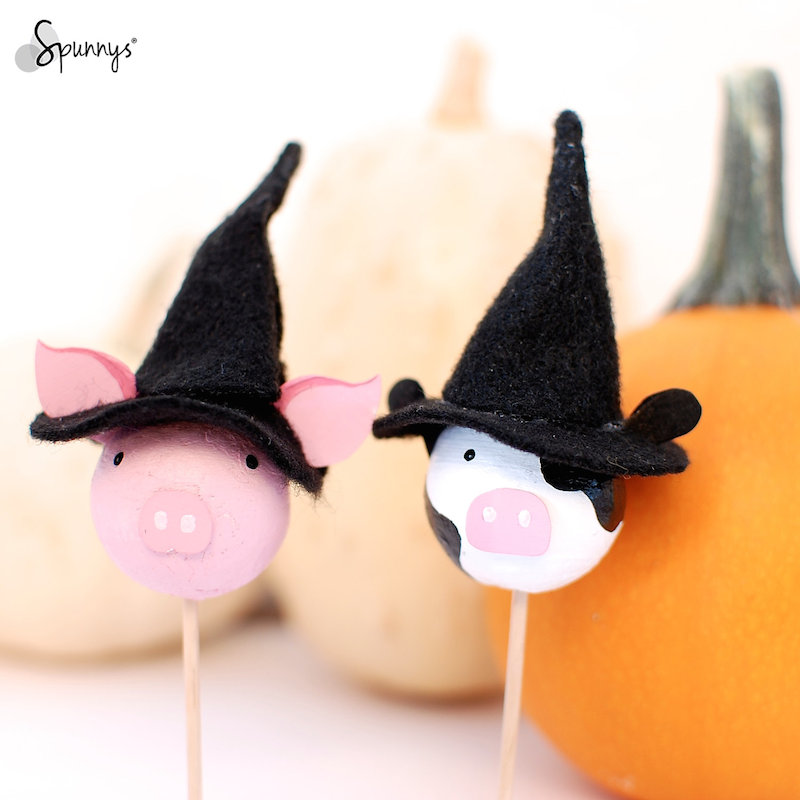 Halloween cupcake toppers DIY project idea