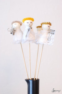 Holiday craft ideas angel ornaments