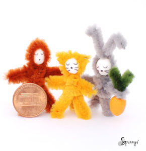 Home decor ideas spun cotton pipe cleaner animals