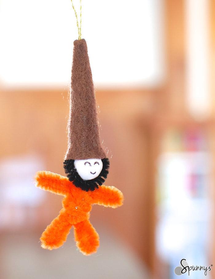Felt gnome elft ornament DIY