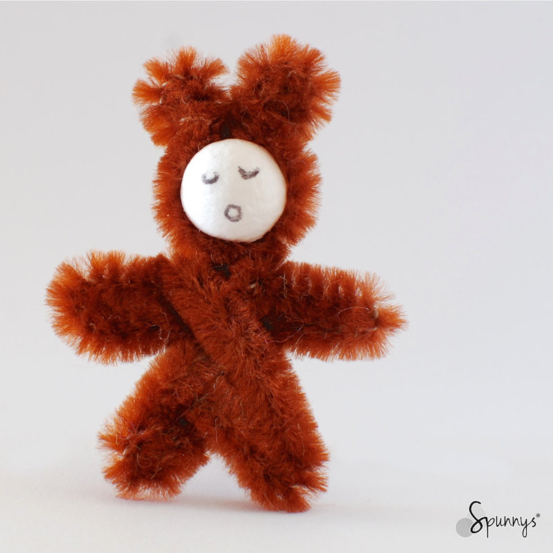 pipe cleaner brown bear