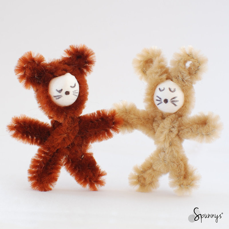 pipe cleaner ornaments bear koala