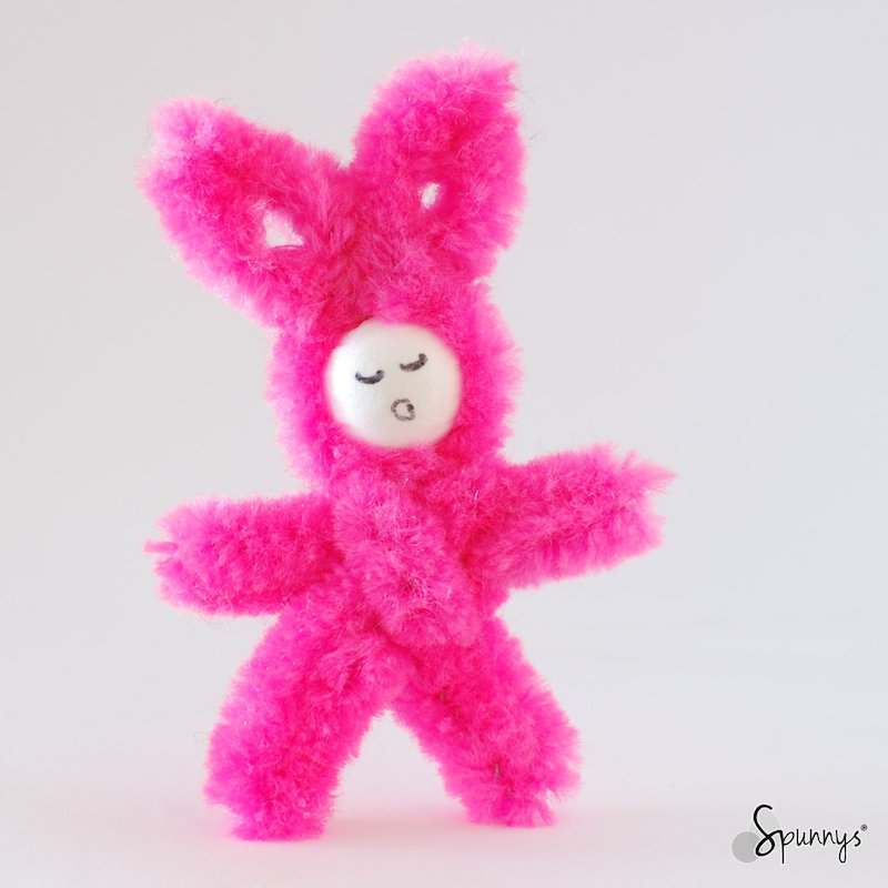 pipe cleaner pink bunny