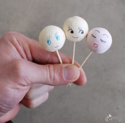 spun cotton doll heads vintage inspired