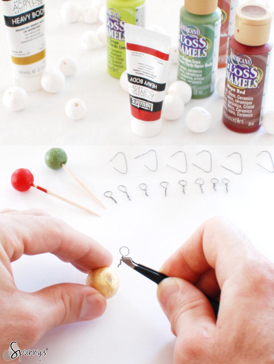 DIY mini christmas ball ornaments how to tutorial 2