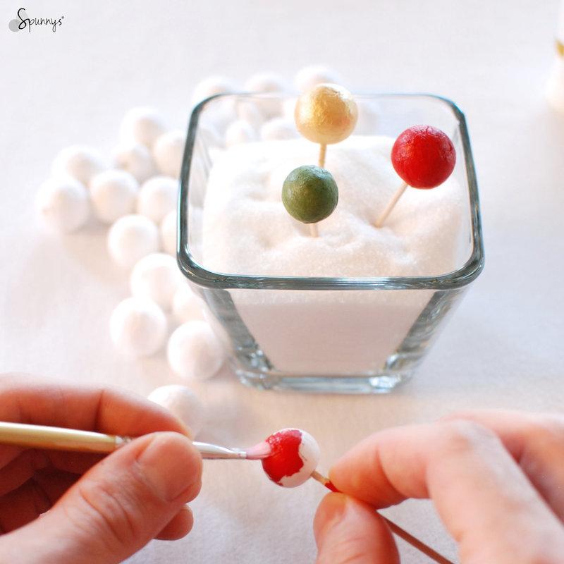 DIY miniature christmas ball ornaments
