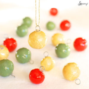 DIY miniature holiday balls ornaments