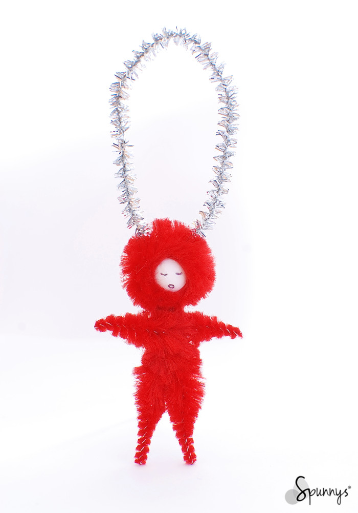 Vintage style chenille pipe cleaner ornament