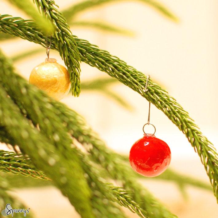mini christmas ball ornaments tutorial