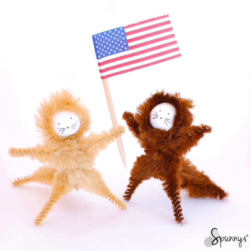 patriotic craft ideas pipe cleaner animal ornaments