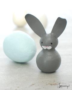 Easter bunny peg doll