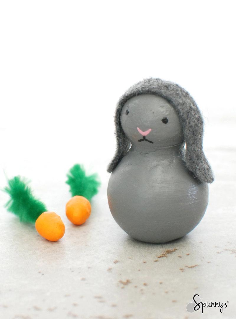 Angry bunny rabbit peg doll DIY