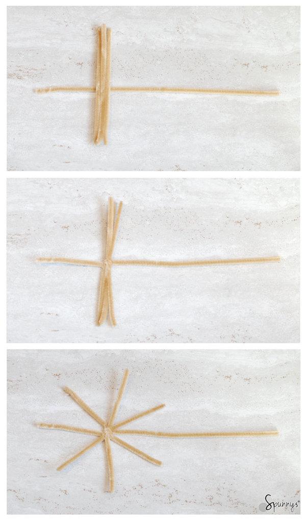 chenille stem hat DIY