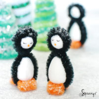 pipe cleaner penguins christmas craft ideas