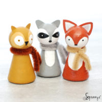 Animal peg dolls