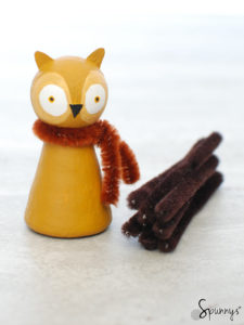 owl peg doll