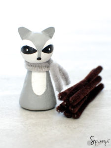 raccoon peg doll