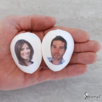 DIY personalized Easter egg ornaments
