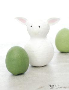 Spun cotton ornament lamb sheep
