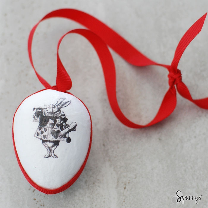 Vintage spun cotton Easter egg ornament DIY