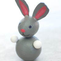 spun cotton easter bunny figurine DIY