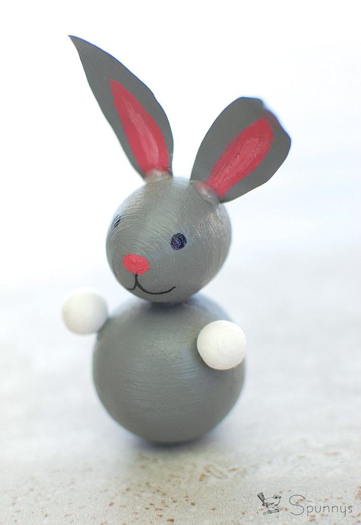 Easter bunny ornament peg doll DIY