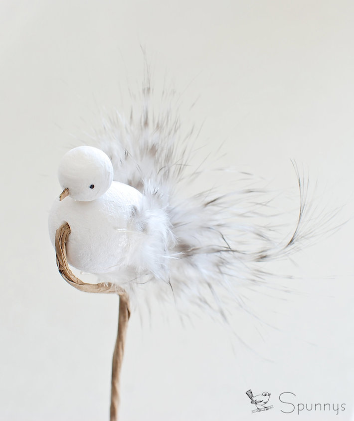 feathered bird ornament DIY